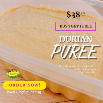 Durian Puree 1kg BUY 1 FREE 1